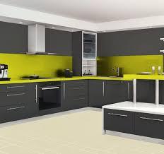 meuble cuisine laqué cuisine laque blanche plan de travail gris cuisine design en