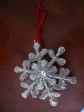 beaded snowflake ornaments ebay