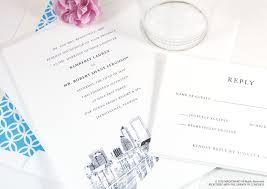 wedding invitations jacksonville fl florida skyline wedding invitations