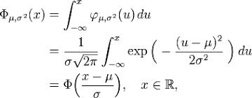Gaussian Integral Table Normal Distribution