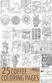 coffee coloring pages for adults 25 unique designs for coffee lovers