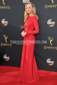 portia doubleday emmys 2016 red long prom dress starcelebritydresses