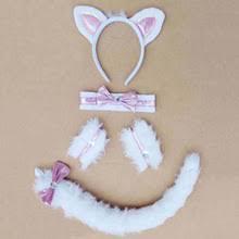 White Cat Halloween Costume Popular White Cat Tail Buy Cheap White Cat Tail Lots China