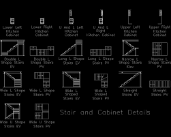 Kitchen Cabinet Detail Autocad Detail Stair And Cabinet Details Dwg