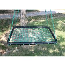 outdoor platform hanging nest tree swing sets net seat kids