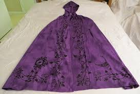 ritual robes and cloaks goddess cloak purple black goddess cape robe pagan wicca ritual
