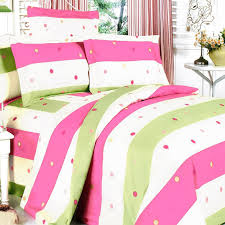 Teenager Bedding Sets by Pink Green Polka Dot Striped Teen Bedding Twin Full Queen
