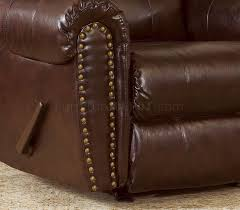 brown bonded leather sofa u0026 chair set w reclining seats