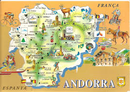 Map Of Spain And France by My Postcard Page Andorra Map
