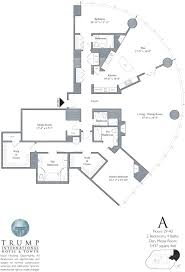 U Condo Floor Plan by Trump Tower Chicago 401 N Wabash Floor Plans Views