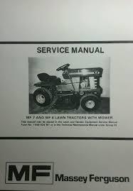 massey ferguson mf 7 u0026 8 lawn garden tractor u0026 mower service