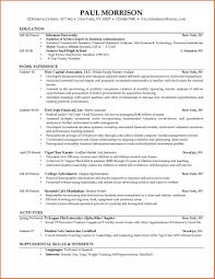Sample College Graduate Resume Sample Resume For College Graduate Free Resume Example And