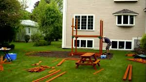 hillcrest premium wooden swing set big backyard toys image with