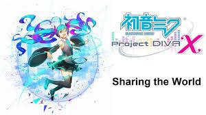 hatsune miku project diva x english dlc sharing the world