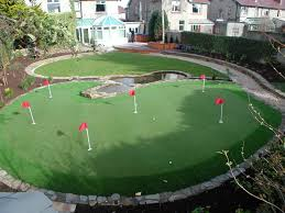my dream backyard natural stone patio golf putting green large
