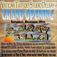 Tropical Themed Tattoos - vatican tattoo studio delray grand opening slave to the wave