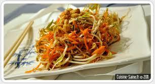 recette graines germées salade de pousses de soja cuisine