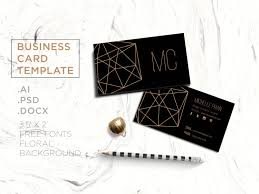 creative business card template black and golden geometric