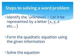 solving quadratic equations by the quadratic formula ppt video