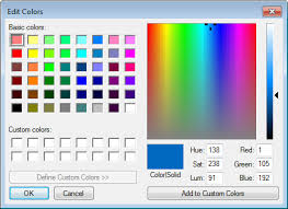 easy tip choose a custom colour by a specific rgb value
