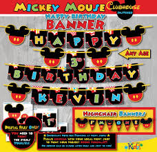 mickey mouse clubhouse birthday banner mickey mouse birthday