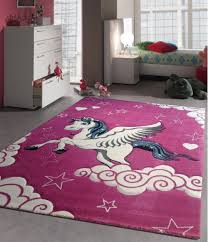 teppich kinderzimmer rosa kinderzimmer teppich spielteppich für kinder einhorn pink rosa creme
