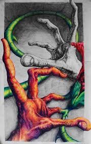 hands flower color pen pencil by ssliwa1 on deviantart