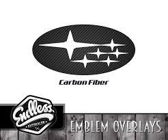subaru decals subaru carbon fiber emblem overlays endless autosalon