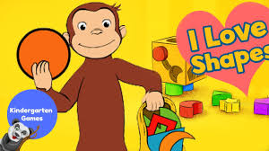 curious george love shapes learn shapes george monkey