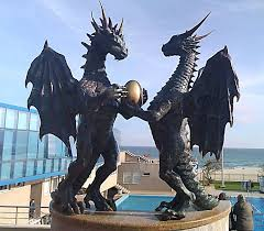 here be dragons amazing statues and sculptures of dragons around