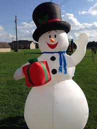 Inflatable Lawn Decorations 7 Ft Tall Holiday Airblown Christmas Inflatable Snowman Lawn