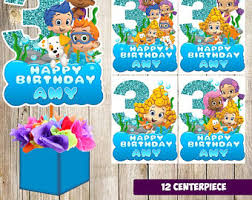 Bubble Guppies Birthday Decorations 3 Trolls Centerpieces Trolls Printable Centerpieces Trolls