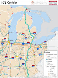 Port Huron Michigan Map by Map Of I 75 In Michigan Michigan Map