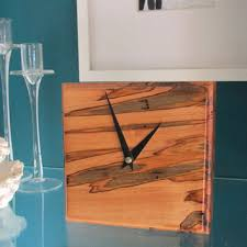 Wood Desk Clock Exotic Desk Clock Made With Mora Wood From Avalonwoodwork On Etsy