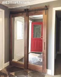 Single Mirror Closet Door Walnut Framed Mirrors Doors In Our Single Track Bypassing Hardware