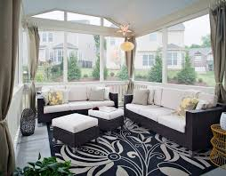 Enclosed Patio Design Enclosed Patio Design Porch Contemporary With Floral Rug Screened