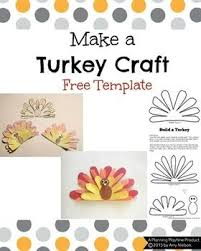 this turkey craft template would be great for a thanksgiving