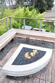 Glass Fire Pits by Glass Fire Pit Landscape Modern With Benches Casters Modern