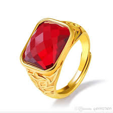 fashion gem rings images 2018 fashion day jewelry mens cool gold plated comfort fit ruby jpg