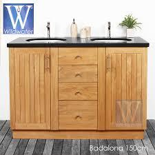 Teak Bathroom Cabinet Teak And Oak Bathroom Furniture Badalona Vanity