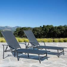 Patio Chaise Lounge Black Outdoor Lounge Chairs You U0027ll Love Wayfair