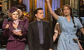 josh hutcherson opens saturday night live with hunger games skit vid