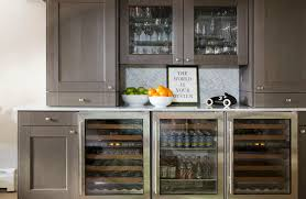 Bar Cabinet With Wine Cooler Glass Front Wine Fridge Design Ideas
