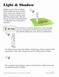 light worksheet worksheets