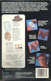 halloween makeup kits professional dan harkless u0027 halloween 1989 costume freddy krueger