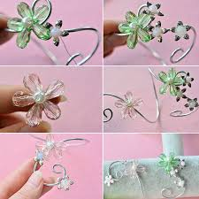 diy beaded flower bracelet images Diy wire wrapped flower bracelet with glass beads where to buy jpg