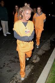 Orange Black Halloween Costumes Julianne Hough Wears Dark Makeup Orange Black
