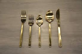 gold flatware rental brushed gold flatware flatware rentals