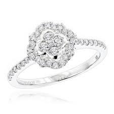 100 affordable wedding ring sets 18k gold prong pave