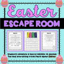easter facts trivia easter escape room fun trivia facts holiday activity print go